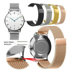 Quick Fit 16mm 18mm 20mm 22mm Milanese Loop Stainless Steel Watch Strap Band