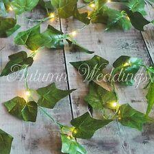 Ivy foglie Wire filo di lucine Ghirlanda BATTERIA Indoor MATRIMONIO DECORAZIONI