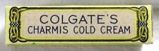 1920's COLGATE Colgate's CHARMIS COLD CREAM – SEALED - Mini Tube – Art Deco Box