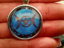 MAGNIFICENT TRIPLE MOON GODDESS - BLUE MOON NECKLACE OF PROTECTION SPELLS WICCA