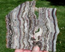 NEW BANDED AMETHYST LACE AGATE SLAB 275 gram rough/specimen/rock/jasper/mineral
