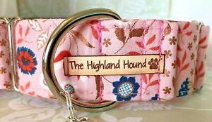 "2"" Rosehip Handmade Martingale Dog Collar Greyhound, Whippet, Lurcher"
