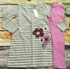 Gymboree 4 Striped Flower Floral Knit Dress Lavender Leggings NWT Outlet