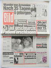 Bild Zeitung vom 13.01.1989, Steffi Graf, Yves Montand, Willy Schneider