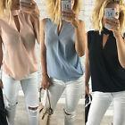 Moderno Mujer Verano Holgado Chiffon Suéter Camisa Sin Mangas Informal Blusa