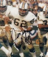 Jim Langer Autographed Signed 8x10 Photo ( HOF Dolphins ) REPRINT