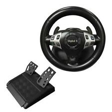 New 3 in 1 Vibration Gaming Racing Steering Wheel Pedal for PC USB PS2 PS1