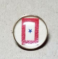 14KD GOLD US BLUE STAR SON IN SERVICE BANNER LAPEL BUTTON PIN