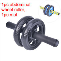 Keep Fit Wheel Abdominal Wheel Ab Roller With Mat For Exercise Fitness EquipNWUS