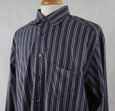 Ermenegildo Zegna XXL Shirt Striped Multi Color Button Front Long Sleeve Cotton