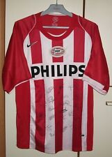 PSV Eindhoven 2004 - 2006 Home football shirt Jersey Nike size L autographs
