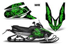 Yamaha APEX XTX Decal Wrap Graphic Kit Part Sled Snowmobile 2006-2011 HAVOC GRN