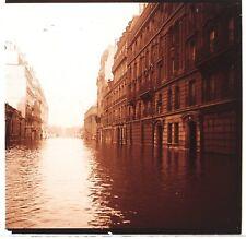 Paris Rue de Solférino Crue de la Seine de 1910 Plaque Stereo Positif Vintage