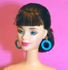 Barbie Dreamz NEON BLUE MOD HOOPS Hoop Earrings Doll Jewelry