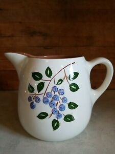 Vintage Stangl Pottery 24oz Pitcher Farmhouse French Country Chic Blueberry EVC