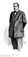 Sherlock Holmes poster Mycroft Holmes drawn by Sidney Paget for Strand Magazine