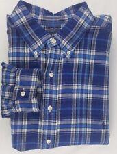 NWT Polo Ralph Lauren Blue Plaid Flannel Mens Long Sleeve Shirt MSRP $125