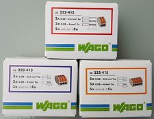 Wagoklemmen SET je 25 Stück 222-412, 222-413, 222-415,  Original WAGO Klemmen