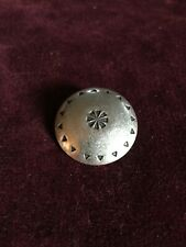 VINTAGE SILVER BUTTON-HAND MADE STAMP WORK - INDIAN?