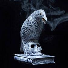 Garden Décor Statues Neighborhood Crow Skull Chamber Ceramics Burner Incense
