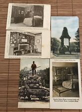 Lexington Mass Postcards Mixed Lot 5 Hancock Clark House Parker Monument 1910s