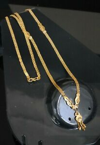 Real looking 22 ct gold plated Chain - necklace party wear kapa Indian Jewellry