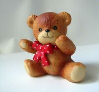 Cute Lucy & Me Bear Sitting w/Red Polka Dot Bow Lucy Rigg 1980 - Enesco