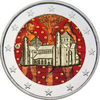 2 Euro Gedenkmünze BRD  Deutschland 2014 Niedersachsen coloriert Farbe Farbmünze