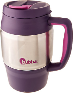 Insulated Coffee Beverage Thermos Tea Lid Classic Cup Large 34 oz. Purple