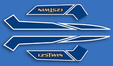 1978 Honda CB125T EURO - Fuel Tank Pin Stripe Decals & Side Covers Set - BLUE