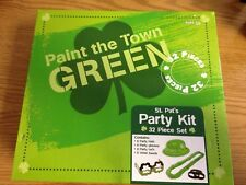 St. Patrick's Day 32 Piece Party Kit Package 8 Each Hats~Glasses~Lei's~B ands
