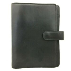 Louis Vuitton Nomade Agenda MM Black Leather Notebook Cover /C1724