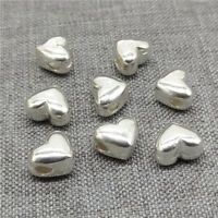 4pcs of 925 Sterling Silver Love Heart Beads for Bracelet Necklace