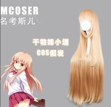 HOT! Umaru-chan Doma Umaru Milk Orange Long Straight Cosplay Full Wig w124