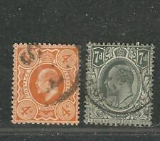 Great Britian (UK) Stamps 144-45 SG 241, 49 KEVII (DLR) Used 1909-10 SCV