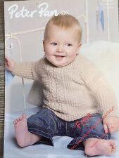 """Peter Pan Knitting Pattern: Baby Sweater, DK, 16-22"""", P1060"""