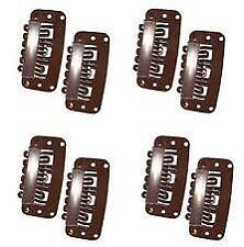 Boolavard TM 50pcs U Shape Snap Clips for Hair Extensions SNA P Clip Single