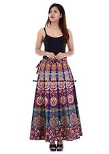 Indian Women Skirt Long Wrap Around Ethnic Floral Rapron Printed Cotton Mandala