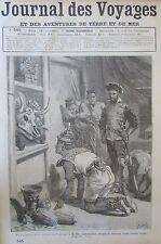 JOURNAL DES VOYAGES N° 545 de 1887 EXPEDITION MENDEZ PINTO CHASSE TIGRE AFRIQUE
