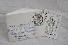 VIEUX PAPIER COMTE DE GERMINY BELGIQUE HERALDIQUE TIMBRE 1961