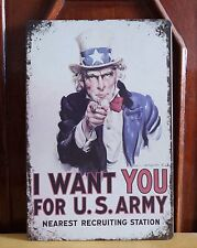 US Army I WANT YOU Metal Plaque Tin Signs Home Pub Bar Wall Picture Decor