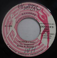 Scotty & Derrick/The Crystalites 45rpm Crystal 1074 Riddle I This Jamaica Reggae