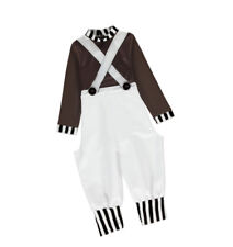 Mens Oompa Loompa Fancy Dress Costume Adult Chocolate Factory Worker Costume