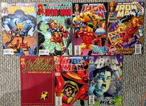 Marvel Comics INVINCIBLE IRON MAN 7-issue comic book lot Iron Man various single