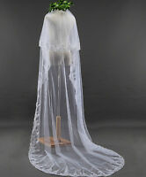 Women Lady Bride Bridal Wedding Long Veil WITH COMB head hair Accessory 3 meters