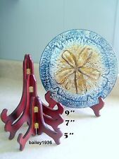 """5"""" SMALL WALNUT Easel Plate Stand HIGH QUALITY"""