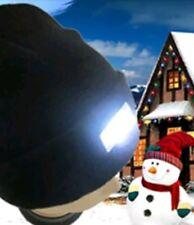 5-LED Tapa Knit Beanie Sombrero de luz con 2 baterías al aire libre Caza Camping Pesca