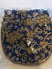 Indian Trditional Potli Bag Embroidered ,Blue