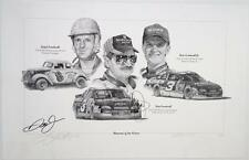 Dale Earnhardt Jr & Sr Signed Lithograph Artist Proof Memories of the Future JSA