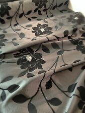 Silver and black fabric, material for curtains and cushions 60 Inch Wide